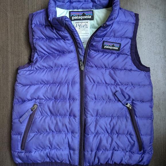 Patagonia Jackets Coats Baby Down Sweater Vest 18m Purple Poshmark